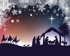 Many of my Silhouette images are taken from a photographed. Christmas Scenery, Christmas Nativity Scene, Christmas Yard, Christmas Pictures, Christmas Projects, Christmas Holidays, Merry Christmas, Christmas Decorations, Xmas