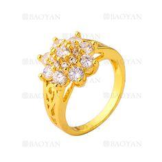 anillo con cristal de flor de dorado para mujer-BREGG76049