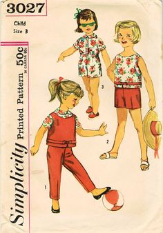 1950s Simplicity 3027 Vintage Sewing Pattern by midvalecottage
