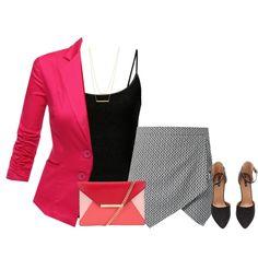 A pop of red by lenaick on Polyvore featuring moda, Doublju, H&M, MICHAEL Michael Kors and Jennifer Zeuner
