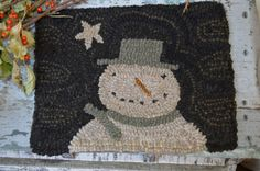 It has frosted 2 nights in a row. Still have some hanging baskets that are still living. This is my first winter rug, my design. Christmas Rugs, Christmas Crafts, Antique Bottles, Wool Applique, Punch Needle, Hanging Baskets, Rug Hooking, Wool Rug, Frost