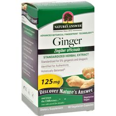 Natures Answer Ginger Rhizome - 60 Vegetarian Capsules - Natures Answer Ginger Rhizome Description:   Promotes Healthy Digestion Standardized Herbal Supplement Ginger rhizome (Zingiber officinale) a popular seasoning for many cuisines provides excellent natural support for gastrointestinal health especially when traveling. Free Of Synthetic ingredients. Disclaimer These statements have not been evaluated by the FDA. These products are not intended to diagnose treat cure or prevent any…