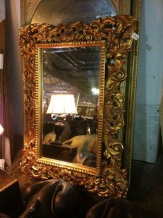 LARGE Ornate Guilded Mirror w/ Beveled mirror