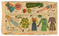 78.8603: Jenny's Style Show: Art School Cut-Out Doll | paper doll | Paper Dolls | Dolls | Online Collections | The Strong