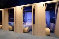 Close quarters Sleep Box, Sleeping Pods, Capsule Hotel, Hotel Room Design, Bunk Rooms, Bunk Bed Designs, Dormitory, Dream Rooms, Small Rooms