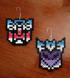 Transformers Inspired 8 Bit Perler Ornament Set via eb.perler. Click on the image to see more!
