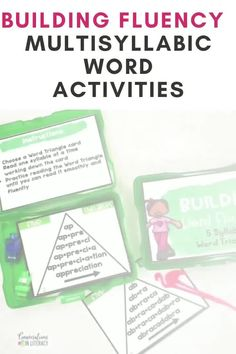 Multisyllabic word activities are great for word work, small group, RTI, & literacy centers! Students practice decoding fluency phrases and learning comprehension skills too with the ideas in this common core product #guidedreading #fluency #conversationsinliteracy #comprehension#phonics #classroom #elementary #thirdgrade #secondgrade #fourthgrade #fifthgrade 2nd grade, 3rd grade, 4th grade, 5th grade