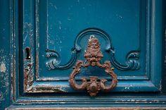 Paris Photo - Echoes, Ornate Door Knocker, Architectural Detail Fine Art Photograph, Urban Home Decor