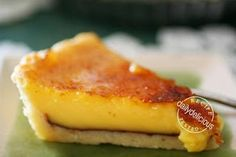 dailydelicious: Gordan Ramsey's  Lemon Tart.  This website has some lovely looking recipes.  I will check out more later.
