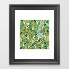 Golden Royal White and Blue-green Peacock Feathers Framed Art Print by justkidding #FramedPrint #graphicdesign #leaves #peacockfeathers #green #darkgreen