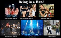 Being in a band