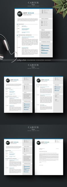 Unique and modern resume template collection #career #resume #cv - career resume template
