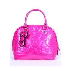 I got this Hello Kitty tote from my BFF for Cmas. It rocks! The color is awesome. Hot pink patent...love!