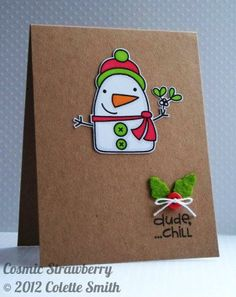 Dude, ...chill. Cute card created with stamps by Paper Smooches