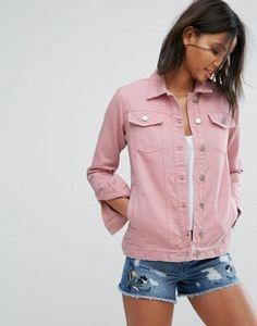 Miss Selfridge - Veste longue en jean