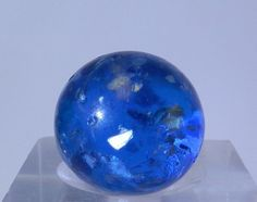 #5002m Beautiful Vintage Handmade German Blue Mica Marble .76 Inches *Near Mint* - http://hobbies-toys.goshoppins.com/marbles/5002m-beautiful-vintage-handmade-german-blue-mica-marble-76-inches-near-mint/