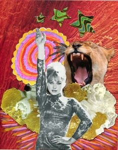 Collage courtesy of Rookie Mag. Photocollage, Wall Collage, Trippy, Art Inspo, Cool Art, Art Projects, Illustration Art, Lion Sculpture, Artsy