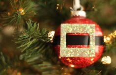 Easy Christmas Ornament Tutorial --- Glitter Santa Claus!