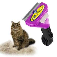 FURminator® deShedder for Cats. I bought one and it works great!
