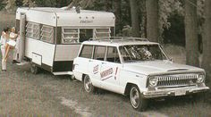 1968 Starcraft trailer and Jeep Wagoneer by SportSuburban. Holy Jeebus I want one!!!!