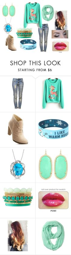 """""""little bambi dear"""" by court-courtney ❤ liked on Polyvore featuring Anine Bing, Disney, Allurez, Kendra Scott and Charlotte Russe"""