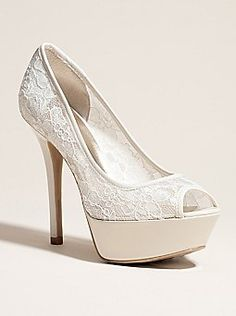 GWNANCILLE and its on sale at guess.com White Lace Heels 93a8d127e03
