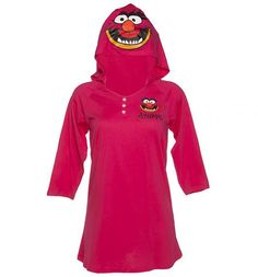 Ladies Muppets Animal Hooded Night Dress