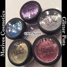 Motives Cosmetics Glitter Pots. Get them at www.motivescosmetics.com/katrinadalain