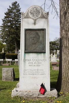 Emma Goldman's grave, Forest Home Cemetery, Chicago