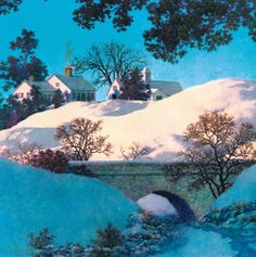 Stave Puzzles: Sunlight (Traditional) by Maxfield Parrish