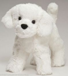 "DANDELION PUFF  Douglas 7.5"" plush BIJON FRISSE stuffed animal dog bichon white #Douglas"