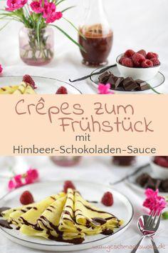 {Anzeige} Frühstück zum Verlieben - Crêpes mit Himbeer-Schokoladen-Sauce - #crepes #himbeeren #schokolade #schokoladensauce #himbeerschokoladensauce #valentinstag