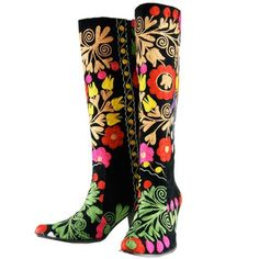 Aliya Floral Boots Size 39, $188, now featured on Fab.