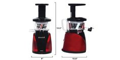 Tribest Slowstar Vertical Slow Juicer and Mincer Cold Press Masticating Juice Extractor in Red and Black -- Check this awesome product by going to the link at the image. (This is an affiliate link) Commercial Juicer, Best Masticating Juicer, Best Juicer Machine, Juicer Reviews, Cold Press Juicer, Juice Extractor, Best Commercials, Specialty Appliances, Juice Cleanse