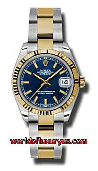 This Rolex Oyster Perpetual Datejust Gold Yellow Mens Watch, 178273-BLIO features 31 mm Stainless Steel case, Blue dial, Sapphire crystal, Fixed bezel, and a Stainless Steel and 18K yellow gold bracelet. Rolex Oyster Perpetual Datejust Gold Yellow Mens Watch, 178273-BLIO also features Automatic movement - See more at: http://www.worldofluxuryus.com/watches/Rolex/Datejust/178273-BLIO/641_642_6553.php#sthash.VIRDsQ0z.dpuf