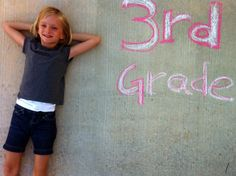 Cute idea for the first day of school every year! #photography #school #children