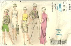 Vogue Sewing Patterns | Vintage Vogue Sixties Sewing Pattern 6795 by studioGpatterns