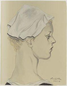 Foujita Tsuguharu, Portrait of a Girl