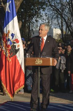 Photo about Chilean President Sebastian Pinera for the period Image of public, microphone, america - 33249183 Digital Illustration, Chile, Presidents, Public, America, Stock Photos, Cartoon, Period, Illustrations