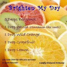 Brighten Your Day with this uplifting diffuser blend!! | Where to buy essential oils: www.thepaleomama.com/essential-oils