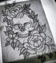tattoo roses images, image search, & inspiration to browse every day. Skull Tattoos, Rose Tattoos, Leg Tattoos, Flower Tattoos, Body Art Tattoos, Tatoos, Boys With Tattoos, Tattoos For Women, Tattoo Sketches
