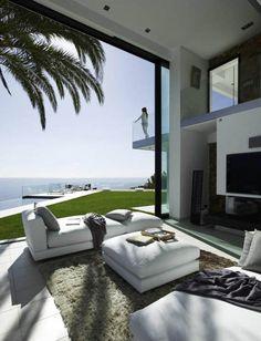 Modern Villa, Costa Brava, Spain. We tint villas like this throughout Spain www.solarshadetinting.com