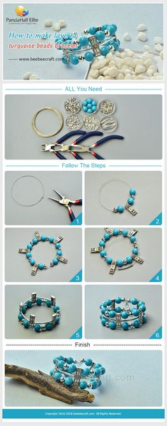 #Beebeecraft tutorial on how to make #bracelet with #gemstonebeads