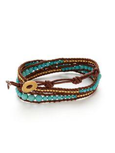 Chan Luu Gold Nugget & Beaded Wrap Bracelet #DIYinspiration