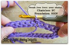 Playin' Hooky Designs: Joining the Chainless Single Crochet Foundation: In the Round