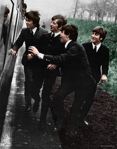 The Beatles in A Hard Days Night