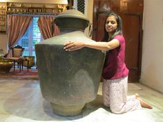 The cicumference of the huge brass pot Kindaramis 8 feet 4 inches