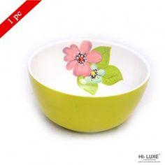 Hi Luxe Double Clr Serving Bowl  Green