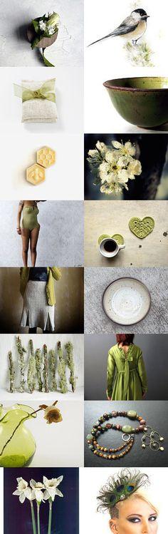 Moss Green Spring by Deborah Alysoun on Etsy--Pinned with TreasuryPin.com