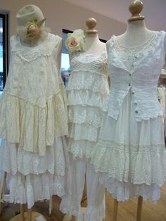 ruffles and lace love Yummy vintage whites white decor romantic prairie farmhouse cottage style